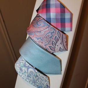 EUC Express Assorted Prints Tie Bundle (Set of 4)